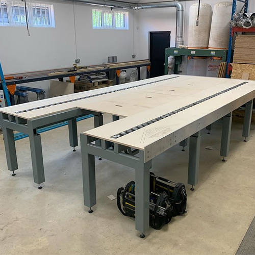 Custom made work benches
